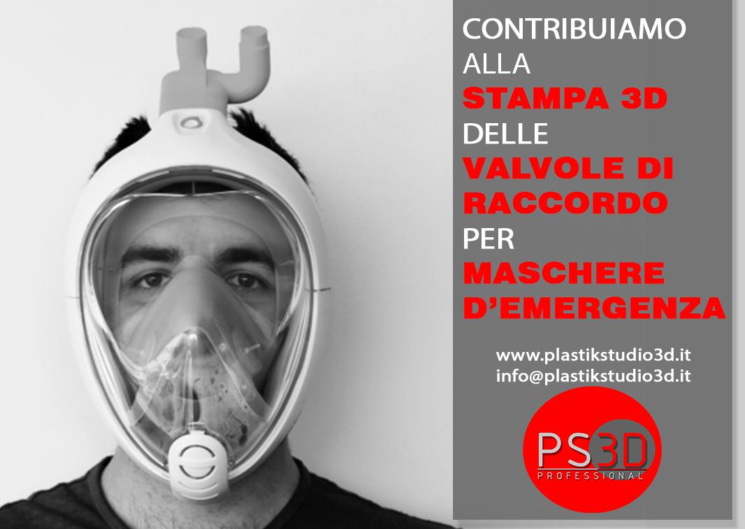CONTRIBUIAMO ALLA STAMPA 3D DELLE VALVOLE DI RACCORDO PER MASCHERE D'EMERGENZA E VISIERE PROTETTIVE